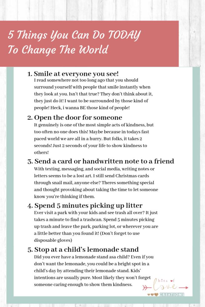 5 Things List
