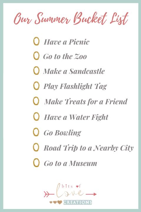 Our Summer Checklist